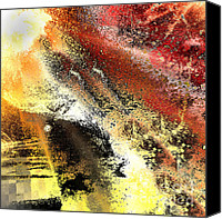 Abstraction Canvas Prints - Sun Rays Canvas Print by Kristin Kreet