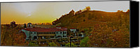 10:7 Canvas Prints - Sun set 38 degree NE Calabasas Ca. Canvas Print by Ronald  Bell