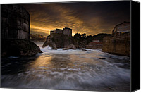 Dubrovnik Canvas Prints - Sun Set in Stone Canvas Print by Daniel Zrno