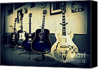 Johnny Cash Canvas Prints - Sun Studio Classics Canvas Print by Perry Webster
