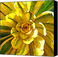 Western Digital Art Canvas Prints - Sunburst Canvas Print by Amy Vangsgard