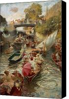 Rowers Canvas Prints - Sunday Afternoon Canvas Print by Edward John Gregory
