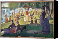 1884 Canvas Prints - Sunday Afternoon on the Island of La Grande Jatte Canvas Print by Georges Pierre Seurat