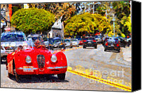 British Cars Canvas Prints - Sunday Drive . 7D15939 Canvas Print by Wingsdomain Art and Photography