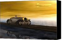 Sunset Mixed Media Canvas Prints - Sunday Drive Canvas Print by Bob Orsillo