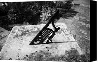 Dial Photo Canvas Prints - sundial showing 12 noon in the walled garden at Glenarm castle county antrim northern ireland  Canvas Print by Joe Fox