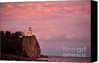 Lighthouse Pyrography Canvas Prints - Sundown Canvas Print by Whispering Feather Gallery