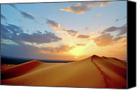 Morocco Canvas Prints - Sundown On Dune Canvas Print by Rodrigo Paz