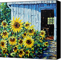 Prankearts Canvas Prints - Sunflowers and sunshine by Prankearts Canvas Print by Richard T Pranke