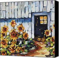 Prankearts Canvas Prints - Sunflowers by Prankearts Canvas Print by Richard T Pranke