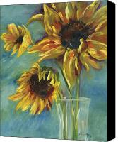 R Canvas Prints - Sunflowers Canvas Print by Chris Brandley
