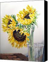 Sunflowers Canvas Prints - Sunflowers Canvas Print by Irina Sztukowski