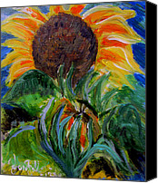 Jon Baldwin Art Canvas Prints - Sunflowers  Canvas Print by Jon Baldwin  Art
