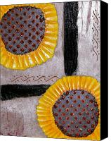 Floral Reliefs Canvas Prints - Sunflowers Canvas Print by Terry Honstead