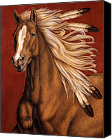 Horse Painting Canvas Prints - Sunhorse Canvas Print by Pat Erickson
