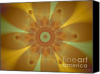 Fractal Design Canvas Prints - Sunkissed Canvas Print by Suzanne Schaefer
