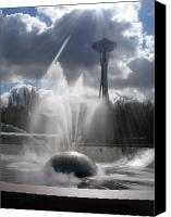 Seattle Tapestries Textiles Canvas Prints - Sunlight in Seattle Canvas Print by Beverlee Singer