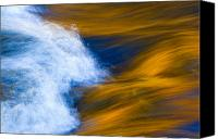 Water Art Canvas Prints - Sunlight on Flowing River Canvas Print by Bill Brennan - Printscapes