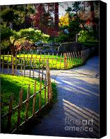 Fences Canvas Prints - Sunny Garden Path Canvas Print by Carol Groenen