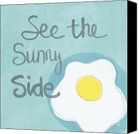 Words Canvas Prints - Sunny Side Up Canvas Print by Linda Woods