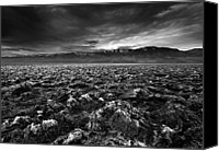 Devil Canvas Prints - Sunrise At Devils Golf Course, Death Valley, Deat Canvas Print by David Kiene