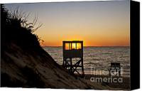 Nauset Beach Canvas Prints - Sunrise at Nauset Beach Canvas Print by John Greim