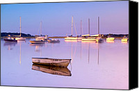 Rowboats Canvas Prints - Sunrise at West Bay Osterville Cape Cod Canvas Print by Matt Suess