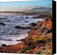 Cambria Photo Canvas Prints - Sunrise Central Calif Coastline Canvas Print by Phil Huettner