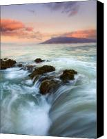 Beaches Canvas Prints - Sunrise Drain Canvas Print by Mike  Dawson