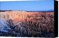 Thor Canvas Prints - Sunrise glow in Bryce Canyon Canvas Print by Pierre Leclerc