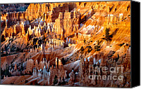 Bryce Canyon Canvas Prints - Sunrise Hoodoos Canvas Print by Robert Bales