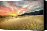 Death Valley National Park Canvas Prints - Sunrise In National Park Canvas Print by Neil Kremer