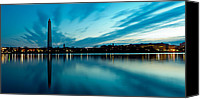 Washington Dc Canvas Prints - Sunrise in the Capital Canvas Print by David Hahn
