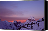 Nepal Canvas Prints - Sunrise In The Nepal Himalayas Canvas Print by Pal Teravagimov Photography