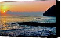Thomas Canvas Prints - Sunrise Makapuu Point Canvas Print by Thomas R Fletcher
