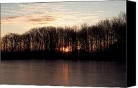 Ashland Canvas Prints - Sunrise on a Winter Morning Canvas Print by Amanda Kiplinger