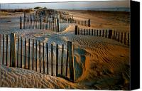 Fences Canvas Prints - Sunrise On Hatteras II Canvas Print by Steven Ainsworth