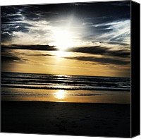 Beach Canvas Prints - Sunrise On The Beach Canvas Print by Lea Ward