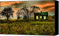 Haunted House Canvas Prints - Sunrise on the Prairie Canvas Print by Matthew Winn