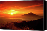 Mountain Scene Canvas Prints - Sunrise Oover Mountain Landscape Canvas Print by Dennis Stauffer / www.zoomion.ch
