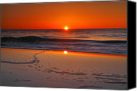 Assateague Canvas Prints - Sunrise Over Assateague IV Canvas Print by Steven Ainsworth