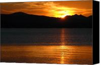 Yellowstone Park Canvas Prints - Sunrise Over Yellowstone Lake Canvas Print by Bruce Gourley
