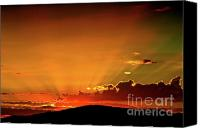 Western Digital Art Canvas Prints - Sunrise Prescott Arizona Canvas Print by Gus McCrea