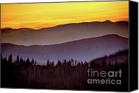 Arne J Hansen Canvas Prints - Sunrise Ridges Canvas Print by Arne Hansen
