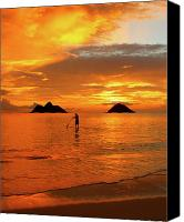 Sup Canvas Prints - Sunrise Standup Canvas Print by Brian Governale