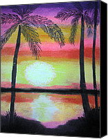 Tropical Sunset Pastels Canvas Prints - Sunset #1 Canvas Print by Melissa Murphy