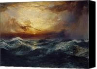Thomas Moran Canvas Prints - Sunset After a Storm Canvas Print by Thomas Moran