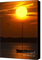 Cape Cod Scenery Canvas Prints - Sunset At Cape Cod Canvas Print by Susan Candelario