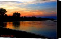 Bruster Canvas Prints - Sunset at Colonial Beach Cove Canvas Print by Clayton Bruster