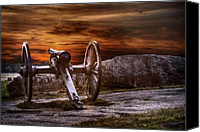 Cannon Canvas Prints - Sunset at Gettysburg Canvas Print by Randy Steele